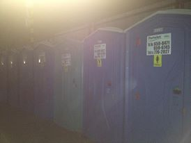 Portable toilets at 7107